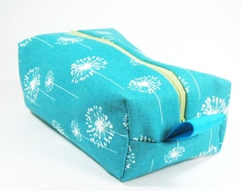 Makeup Bag / Cosmetic Bag/ Travel Bag / Toiletry Bag - Teal Dandi