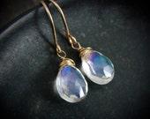 starlight ... mystic quartz earrings