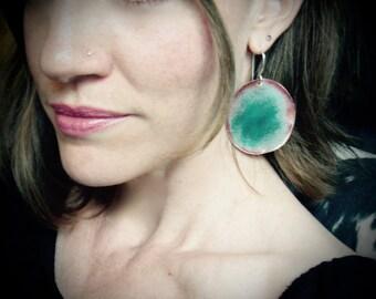 Titian Goddess ... copper earrings