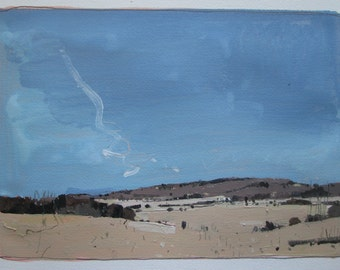 From Hermit's Lane, Original Spring Landscape Painting on Paper, Stooshinoff