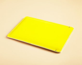Laptop sleeve - Lemon Yellow leather - available in assorted colors