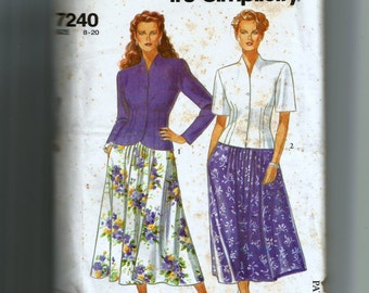 Simplicity Misses' Skirt and Jacket Pattern 7240