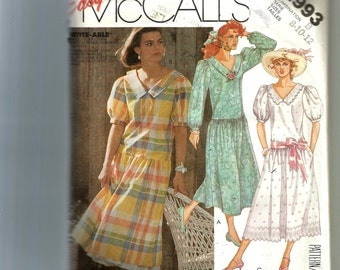 McCall's Misses' Dress and Petticoat Pattern 2993