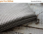 30%OFF SUPER SALE- Brown and White Grid Fabric-Reclaimed Bed Linen Fabric-Modern Simple