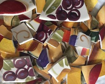 Mosaic Tiles Mix Broken Plate Art Hand Cut Pieces Supply Garden Mix Colorful Vintage 100