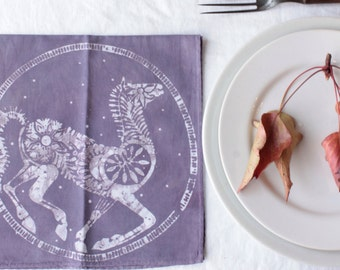 dusty purple horse napkins