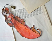 Bookmarks  -  Laminated - Charm - Paper Goods - Handmade - Paper Craft - The Renaissance Reader - Autumn Red
