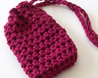 Crochet Soap Saver, Cotton Soap Saver, Burgundy Soap Saver, Crochet Soap Bag, Crochet Soap Sack, Reusable, Ecofriendly