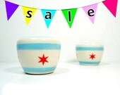 Take 25% off your total purchase! Use code YEAH25 - Pictured here: Salt and Pepper shakers featuring the Chicago Flag design.