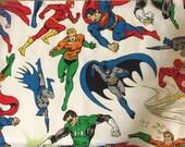 ON SALE Jutice League  Superhero Boys Window Valance Room Decor  handmade with Pottery Barn Kids fabric