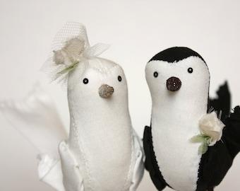 cake topper birds : ava and finn