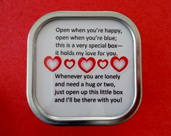 Sweetheart Child Mother Father Grandparents Best Friend BFF - A Little Box Filled with Love From Me to You