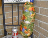 Rooster Country Kitchen Decor Grocery Bags Holder Dispenser Organizer