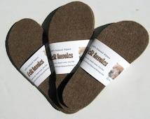 Felt Shoe Inserts, Wool Alpaca Insoles,  Boot Liners for Men and Women, Eco-Friendly -  Medium