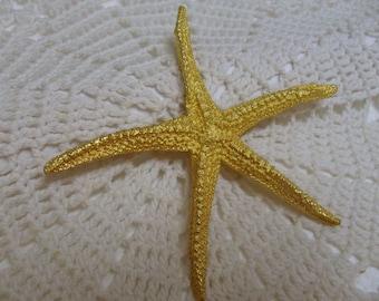 Vintage MDM Large Starfish Brooch Gold