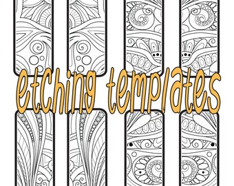 Digital Floral Rectangle Pattern for Etching Earrings Download contour 8166