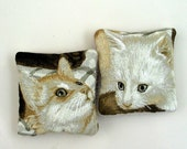 Two Catnip Filled Cat Toys Cute Cat Faces