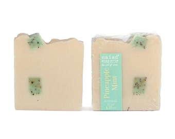 Pineapple Mint Shea Butter Soap - vegan and cruelty free - sustainable palm oil