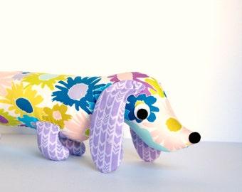 Stuffed Wiener Dog, Doxie Plush Softie for Kids Dachshund Soft Baby Toy VIOLET