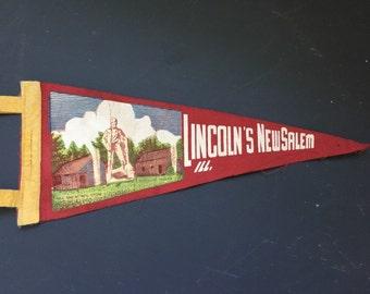 Lincoln Pennant Flag New Salem Illinois