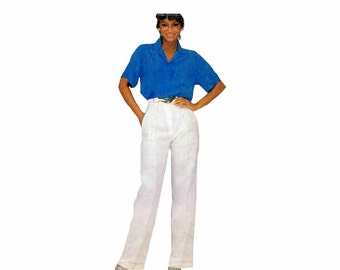 Womens Front Button Blouse Pants McCalls 8488 Vintage Sewing Pattern Misses Size 14 - 16 - 18 Bust 36 - 38 - 40 UNCUT