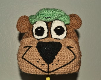 Crochet Yogi Bear Hat - Cartoon Costume Hat - Silly and Chunky Crochet Hat