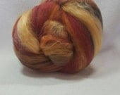 NEW Yarn Hollow Foxy Batts  - Mixed Up Bits of Everything a Potluck of Fiber  - stripey, smooth Batt Foxy Batt no. 4-13
