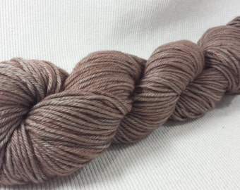 SALE 20% Off Yarn Hollow Tor DK Merino Superwash Hand Dyed Yarn Toasted Almond Semi Soid DK Weight 3.3 ounces 238 yards
