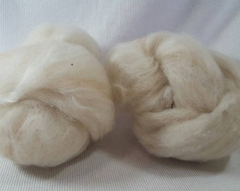 CLEARANCE Yarn Hollow Ghost Batts a Potluck of Natural Fiber - Spin and the Dye for a Great Surprise! No. 5-11