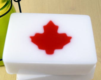 Maple Leaf Soap Bar, Apple Scented Glycerin Soap