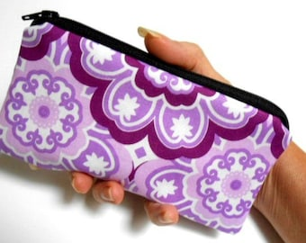 Zipper Pouch Smart Phone Pouch ECO Friendly Padded NEW SIZE Lavender Pop
