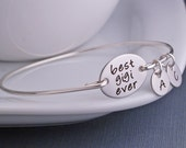 Best Gigi Ever Bracelet, Gigi Jewelry Gift, Silver Personalized Gigi Christmas Gift
