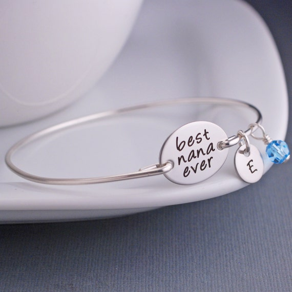 Nana Bracelets, Custom Engraved Gift for Nana, Best Nana Ever Bracelet, Mother's Day Gift for Nana, Mother's Jewelry