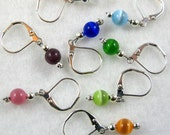 Multi-Colored Cats Eye Removable Stitch Markers - Item No. 807
