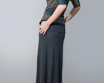 Maxi Skirt • Long Women's Skirt • Tall & Petite Length • Jersey and Cotton • Minimalist Bohemian • Clothing (No. 100)