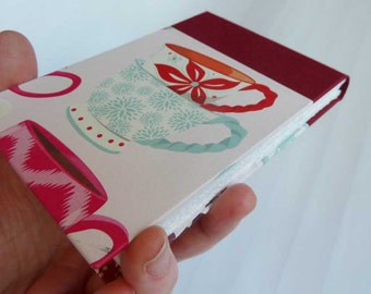 Teacup Notebook - handmade notepad