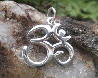 Silver Om Charm - Yoga Jewelry