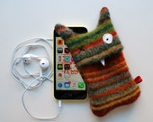 Red, Orange, Brown, Green Multi-Stripey Monster iPhone or iPod Cozy