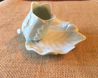 Vintage porcelain china flower holder