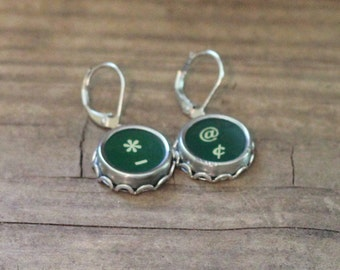 Typewriter Key Earrings Writer Jewelry
