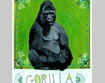 Animal Totem Print - Gorilla