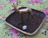Woodland Deer Jewelry Ring Dish Holder