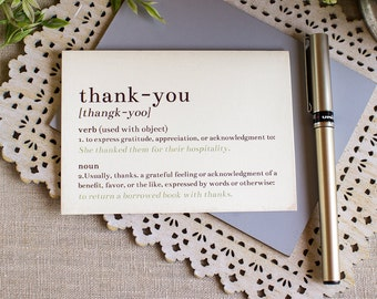 Dictionary Thank You Notes set of 5 Story Book Wedding
