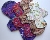 4 Pack Starter Set Cloth Menstrual Pads / Reusable Cloth Pads