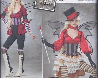 Simplicity 1301 Misses Steampunk Fairy Fantasy Cos Play Costume UNCUT Sewing Pattern