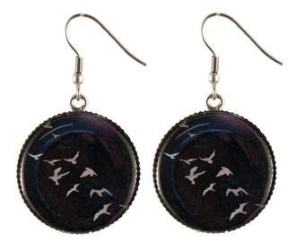 Flock image earrings