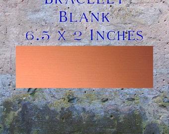 """Copper Bracelet Blanks Jewelry Findings (6 1/2"""" x 2"""") 16oz. 22 Gauge Solid Copper"""