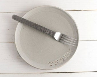 Vegan Dish - Lunch plate - Small dessert plate - Grey