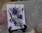 Glass frame, Purple floral design