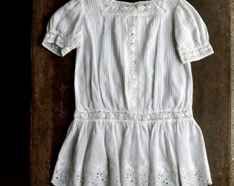 Antique Victorian Little Girls Dress Size 3 - 4